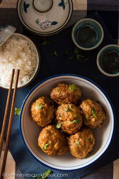 Chinese Lion's Head Pork Meatballs (狮子头) - Enjoy a healthier version of the tender and moist meatballs | omnivorescookbook.com
