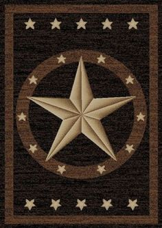 Details about Texas Western Star Rustic Cowboy Decor Black Brown Area Rug Texas Western, Western Style, Western Cowboy, Star Rug, Southwestern Decorating, Southwest Decor, Rectangle Area, Black Decor, Outdoor Area Rugs