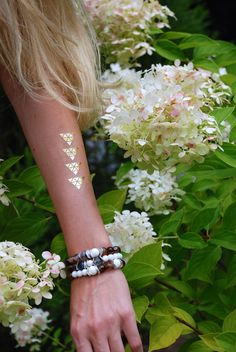 love these gold and silver metallic FLASH TATTOOS from byOlgaR