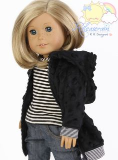 Releaserain Doll Clothes Outfit Black Raised Dots by Releaserain, $16.99