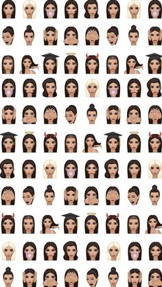 wallpaper, kimoji, and kim kardashian image