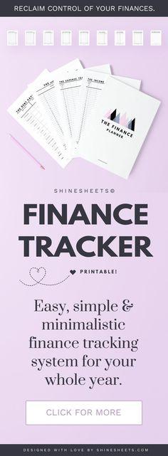 Finance Tracker / Money tracker / Debt tracker / Income tracker / Expense tracker / Budget tracker / Finance planner / Budget printable – How To Make Money management Debt Tracker, Finance Tracker, Expense Tracker, Finance Tips, Ways To Save Money, Money Saving Tips, Managing Money, Budgeting Finances, Budgeting Tips