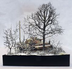 """""""The King is dead-Ardennes December 1944"""" 1/35 scale diorama by Terence Young"""