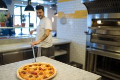 Pizzaiolo Davide at work - L'Osteria Gasteig Munich | Pizza E Pasta