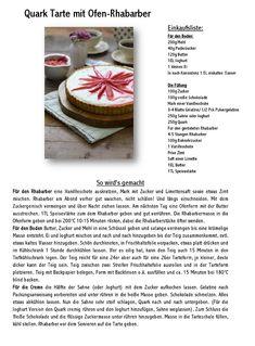 Roasted Rhubarb Tarte mit Quarkfüllung | Das Knusperstübchen