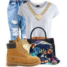 A fashion look from October 2014 featuring Pieces tops, Timberland ankle booties and MICHAEL Michael Kors handbags. Browse and shop related looks.