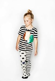 Bang Bang Copenhagen UP UP Tee -features a black and white stripe with short sleeves and a blue and copper balloon graphic on the front VI Spandex Short Sleeves, Short Sleeve Dresses, Blue And Copper, Best Brand, Upcycle, Kids Outfits, Onesies, Tights, Bodysuit