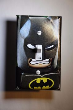 Lego Batman Light Switch Cover superhero comic book boys room bedroom kid decor