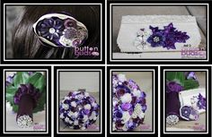 Not just bouquets but accessories too! Is purple the perfect colour for you?  Does it make you want to say I do?  I love the rich colour,  And that handbag   All you need is some matching shoes!  @nicsbuttonsbuds #nicsbuttonbuds #wedding #bouquet #purplewedding