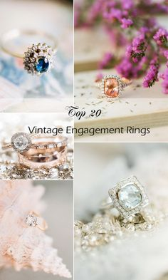 top 20 vintage engagement rings