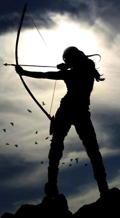 'A woman with a bow and arrow is powerful, strong, capable and independent. I want to emulate these qualities and learn to shoot archery.' I think its Lara Croft from the Tomb Raider game Story Inspiration, Character Inspiration, Paris 3, Lara Croft Tomb, Warrior Princess, Artemis, Fantasy Art, Final Fantasy, Medieval