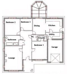 smallest bedroom house bungalow floor plans plan philippines and - Three Bedroom Bungalow Design