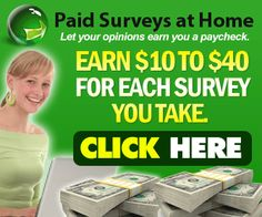 CRAZY Easy way of making money sitting home ! Get paid just taking surveys - Click the link below for access  https://www.youtube.com/watch?v=G9Lo8YXehWk