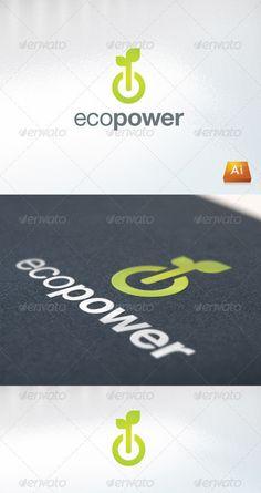 ecopower - Logo Design Template Vector #logotype Download it here: http://graphicriver.net/item/ecopower/671755?s_rank=440?ref=nexion
