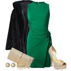"""Elegant Holiday - DSquared2 Dress"" by arjanadesign on Polyvore"