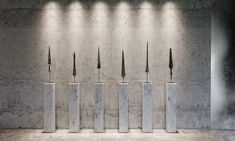 Darkly Designer Interiors Decked Out In Stone, Marble And Concrete