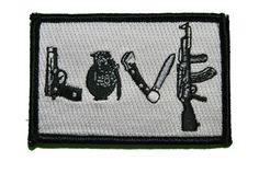 Love My Guns and Knives Morale Patch