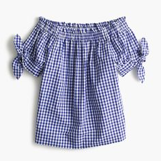 Our top pick (get it)... A superpretty one-shoulder style in gingham is exactly what your jeans have been missing.