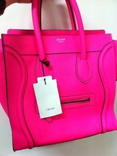neon pink celine bag