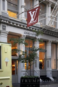 Louis Vuitton's flagship #SoHo location.