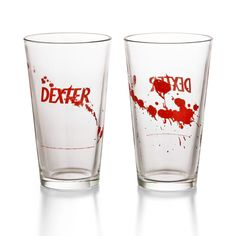 Peel that plastic wrap off last night's leftovers, and while they're microwaving, pour yourself a nice cold beverage in one of your very own Dexter Pint Glasses. This set comes with four pint glasses, emblazoned with the Dexter logo. Game Of Trone, Show Logo, Pint Of Beer, Take My Money, Dexter Morgan, Cool Gadgets, Pint Glass, Just For You, Geek Stuff
