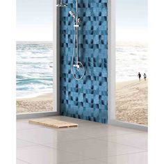 "Found it at Wayfair - Watermarks 2"" x 2"" Glass Mosaic Tile in Sky Blue"