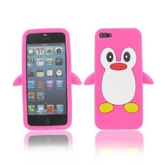 Cute Penguin Soft Gel Rubber Silicone Skin Case Cover For Apple iPhone 5S 5 #Unbranded