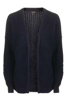 99fd346adc2 Fisherman Rib Cardigan - Knitwear - Clothing - Topshop Europe Pulls