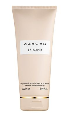 Enjoy the subtle caress of Carven Le Parfum Perfumed Bath and Shower Gel. The delicately scented Bath and Shower Gel creates a rich foam that cleanses the skin gently and transforms bath time into a moment of pure pleasure. Simplicity, freshness, and charm are expressed through this couture scent.