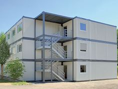 Flat pack house is a prefabricated modular unit that offers customers flexibility and multiple design configurations to optimize their temporary modular space. It can expand horizontally and vertically which makes