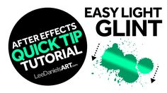 After Effects Tutorial | QUICK TIP | Easy Light Glint