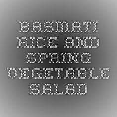 Basmati Rice and Spring Vegetable Salad
