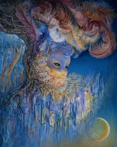 """""""Head over Heels par Josephine Wall Josephine Wall, Fantasy Paintings, Fantasy Art, Deco Podge, Painted Wood Walls, Ink Addiction, Art Prompts, Diabetic Dog, Wall Paint Colors"""
