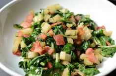 Swiss Chard with Bacon and Garlic - ButterYum Swiss chard is my ...