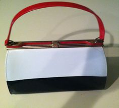 Kelly Handbag Red White and Blue Vintage Patent by EcoBeachDesigns $45.00