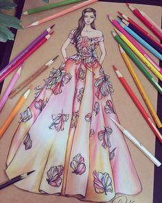 服装设计 手稿 时尚 欧美