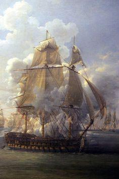 El Hercule (74), que no tuvo mucha suerte que digamos en su carrera como navío francés, pues sólo 24 horas después de ser comisionado, el 21 de Abril de 1798, se vió involucrado en un combate cerca de Brest con el HMS Mars, otro 74, y tras un violento combate en el que los franceses sufrieron 290 bajas y los británicos 31 muertos y 60 heridos, fue capturado. Puesto en servicio en la Royal Navy bajo el nombre de HMS Hercule, participó en 1803.... Más en www.elgrancapitan.org/foro