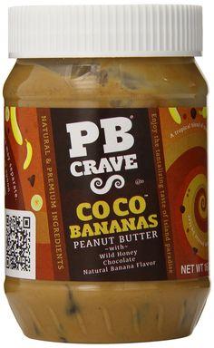 PB Crave Peanut Butter, Coco Banana Premium, 16 Ounce