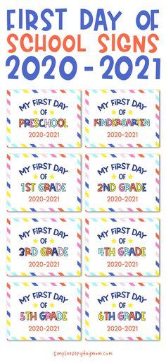 Preschool First Day, Beginning Of Kindergarten, Teaching First Grade, Preschool Kindergarten, 1st Day Of School, Beginning Of The School Year, School Signs, School Memories, School Pictures