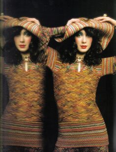1971 - Missoni knit by  Barry Lategan Vogue