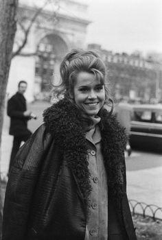 Jane Fonda in Paris, 1970.