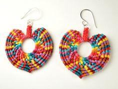 Macrame Heart Earrings from Amira Jewelry