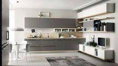 Cucina componibile in legno senza maniglie Collezione Linda by ...
