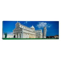 East Urban Home Panoramic Pisa Cathedral, Leaning Tower of Pisa, Pisa Italy Photographic Print on Canvas Size: