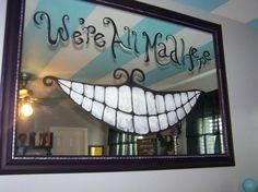 Alice in wonderland Inspired Room | Teen Girl's Alice in Wonderland inspired room, Stripes on the ceiling ...