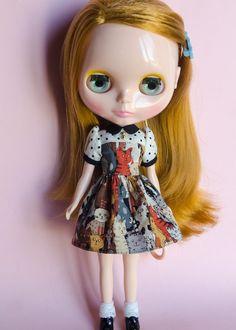 Kitties, Dress for Neo Blythe Doll by Plastic Fashion by PlasticFashion on Etsy