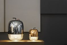 New #Gong table lamps by #Prandina available in white, copper and silver. Gong family gets bigger! www.prandina.it