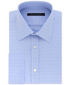 Sean John Men's Big and Tall Classic/Regular Fit Solid French Cuff Dress Shirt - Blue 18.5 32/33