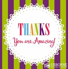 Thank you for your order  Usborne graphic