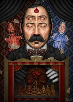 Gianluca Gambino aka Tenia - The Conscience - Digital Painting Catania, Digital Portrait, Digital Art, Digital Paintings, Tarot, Steampunk Kunst, Italian Artist, Pop Surrealism, Queen
